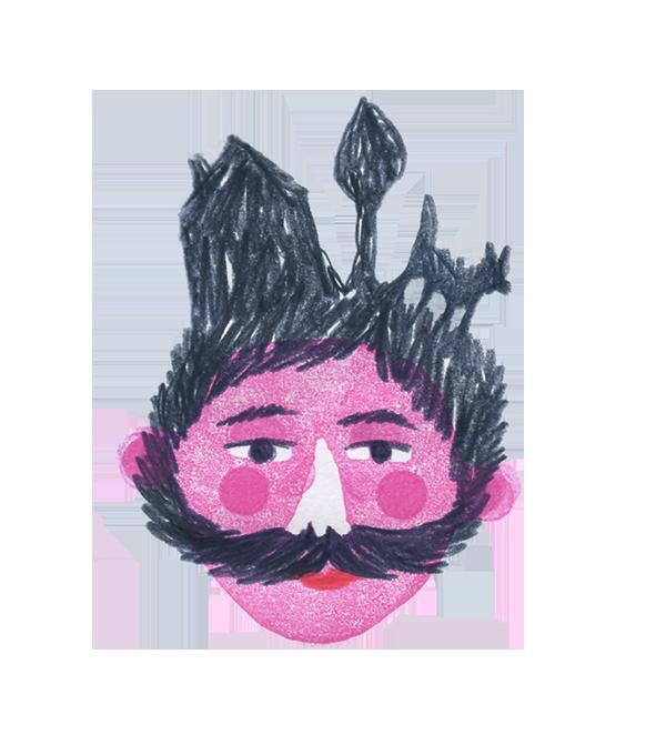 De snor van meester Theo