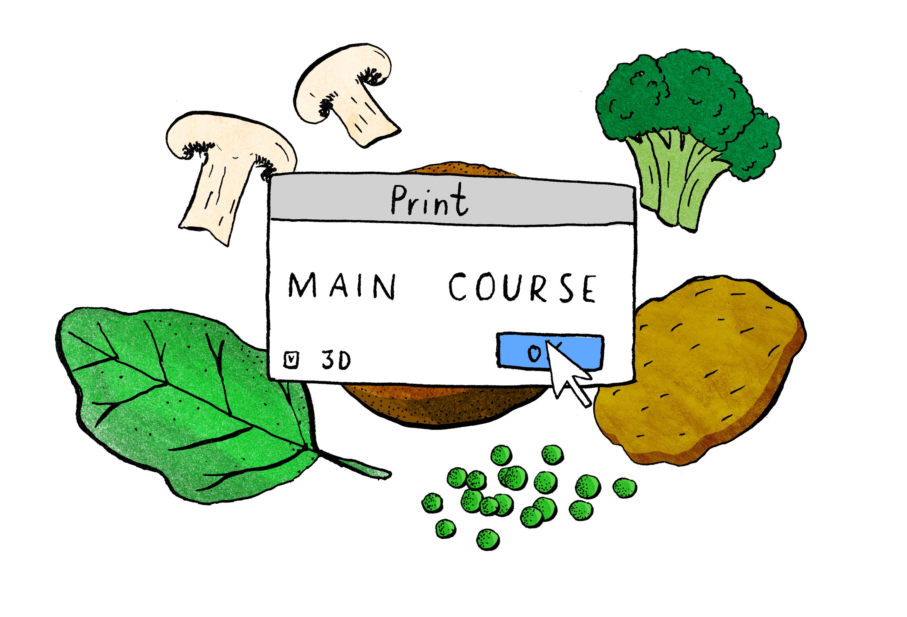 Voedsel printen