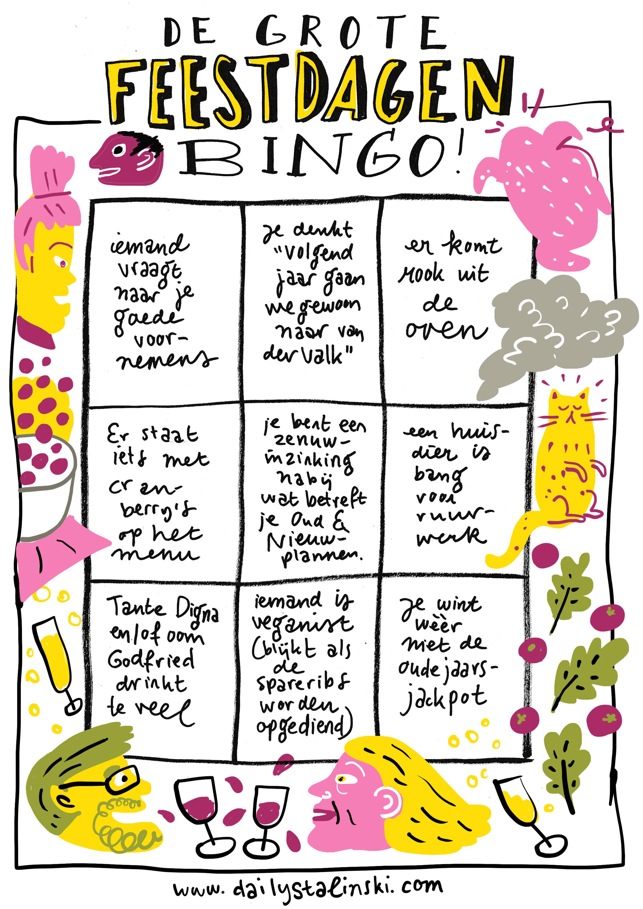 De Grote Feestdagen Bingo