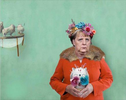 Kijkend naar Merkel, kijkend naar mij 1