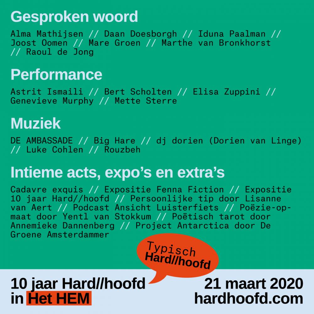 Tickets Hard//hoofd in Het HEM 21 maart
