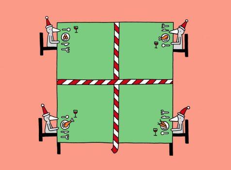 Nieuws in beeld: Met afstand de raarste kerst