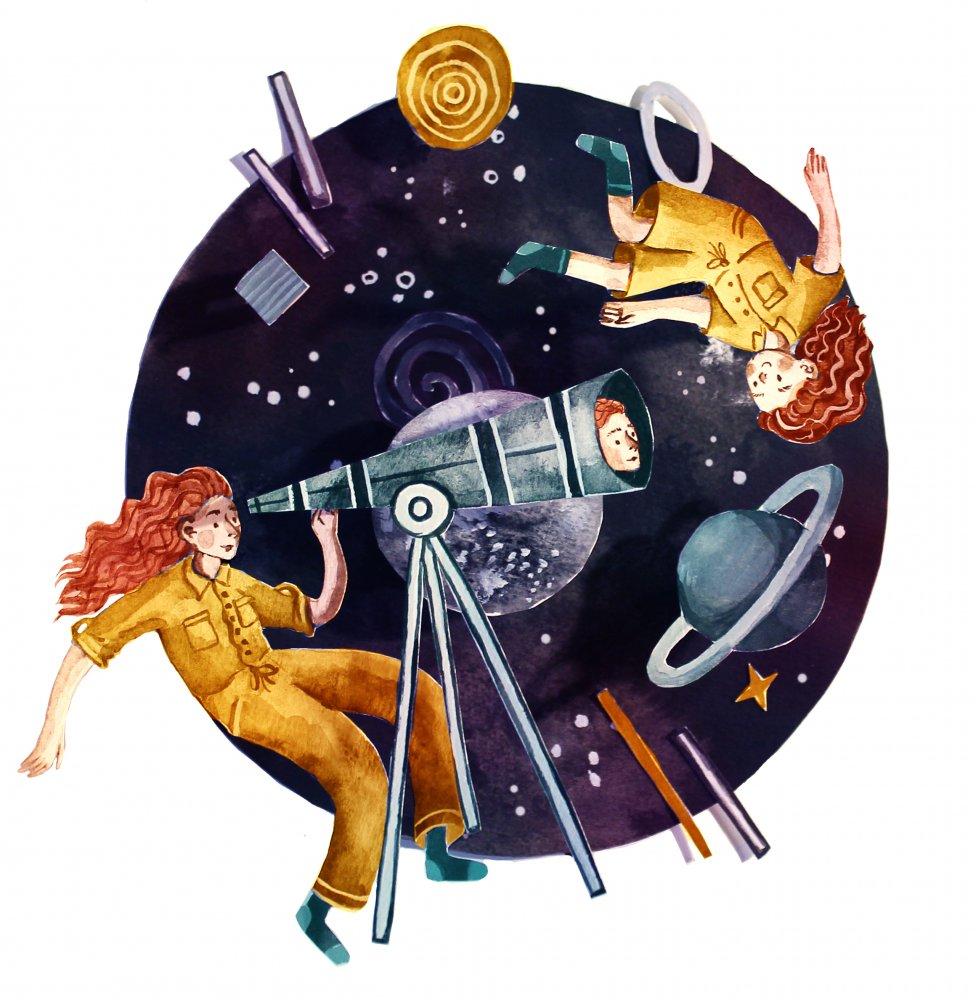 Wat zich ontvouwt in de ruimte