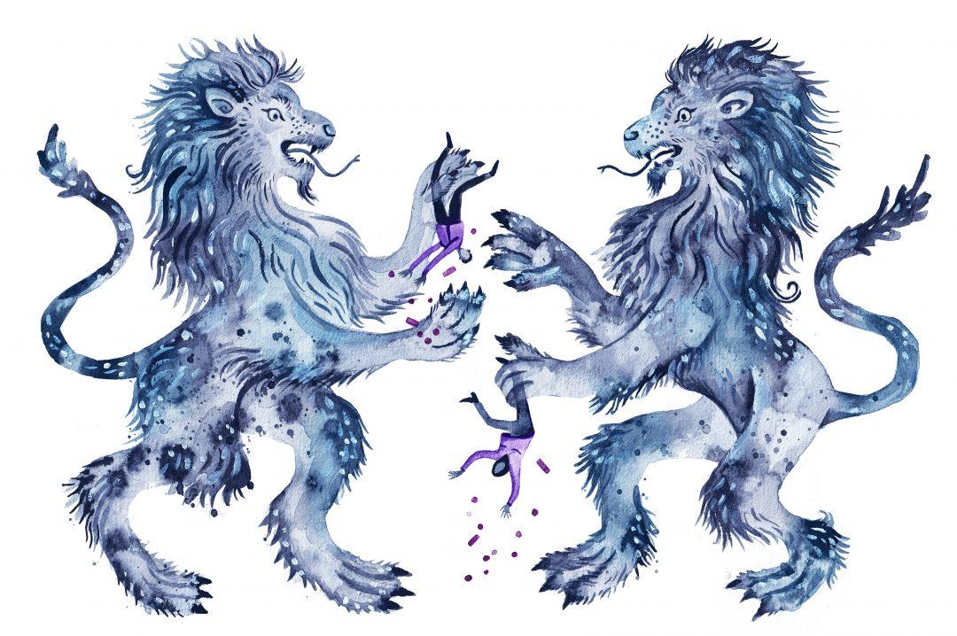 Nieuws in beeld: In de klauwen van de blauwe leeuw
